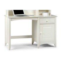 Treck White Stone Desk - 1 Door 1 Drawer - Fully Assembled Option Fully Assembled(+23) No Chair Assembled Hutch (+164.99)