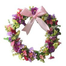 Artificial Wreath Hanging Floral Garland Door Wreath Wedding Decor #11
