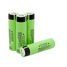 Panasonic 18650 NCR18650B 3.7V 3400mAh Rechargeable Li-ion Flat Top Battery (Green) pack of 4