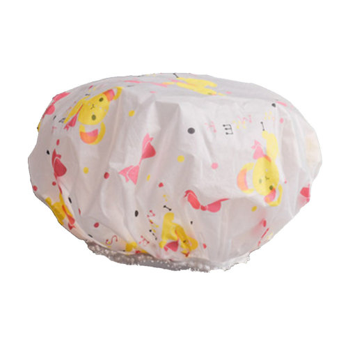 2PCS Shower Cap,Bath Cap-Elastic Band,Extra Large,Won't Fall Off Your Head Designed for Women#G