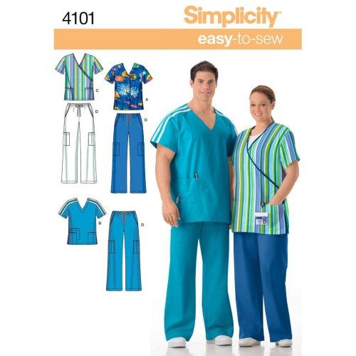 Simplicity Plus Size Scrubs-S,M,L
