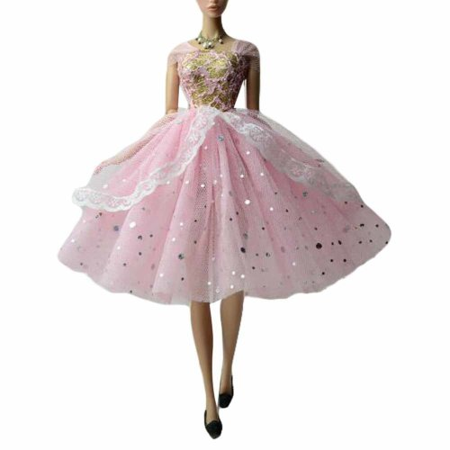 Doll Clothes Bubble Skirt Evening Dress for 30 cm Doll, Pink