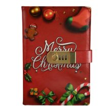 Password Notebook With Lock Notebook Diary Business Notepad, Merry Christmas