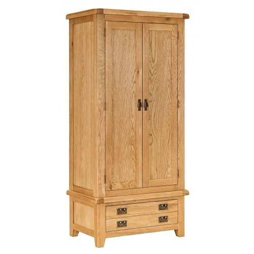 Country Oak Gents Wardrobe