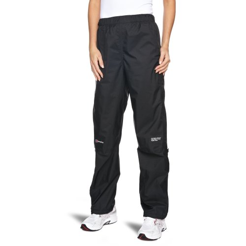 Berghaus Women's Paclite Gore-Tex Waterproof Trousers Over Trousers - Black, Size 10 - Leg 31