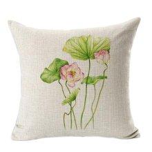 Beautiful Flowers Cotton Linen Decorative Cushion Cover Pillow Case,C