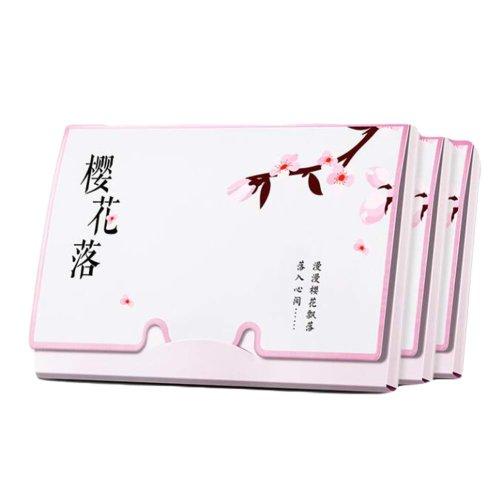 Sakura Women Pink Facial Oil Absorbing Sheet, 300 Sheets
