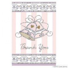 Dazzling Bells Thank You Cards