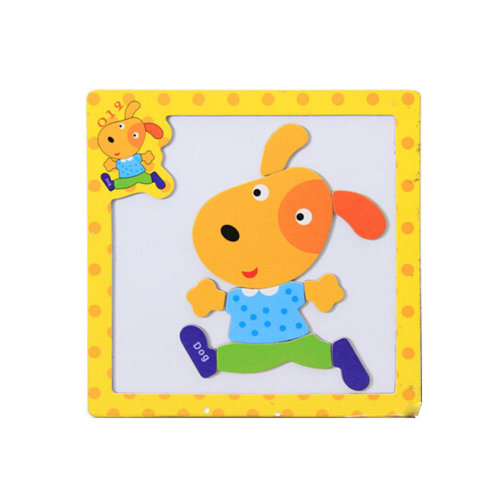 Wooden With Magnet Jigsaw Puzzle Children's Games Toys,Dog