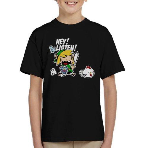 Hey Listen Cute Link Legend Of Zelda Kid's T-Shirt