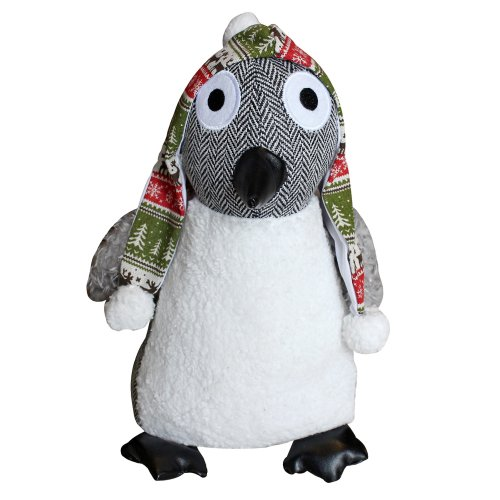 """Riva Paoletti Penguin Doorstop - Heavyweight Sand Filling - Polyester and Acrylic - 14 x 24 x 12cm (6"""" x 9"""" x 5"""" inches) - Designed in the UK"""