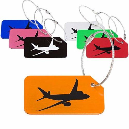 7 Pack Luggage Tags for Travel Suitcase | Private Name ID Card Holder