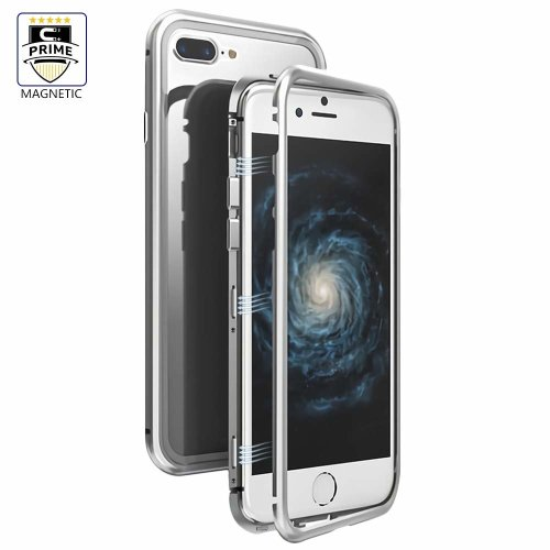 best service 523b6 4bd95 LIGHTDESIRE Clear iPhone 8 Plus Case, iPhone 7 Plus Case, Slim Fit Light  Aluminium [Magnetic Adsorption] Bumper Frame Screen Protector Glass Cover...