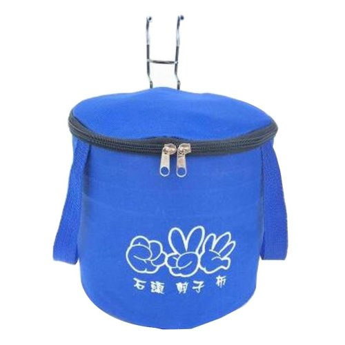 [C] Waterproof Canvas Bicycle Basket Foldable Lidded Basket for Bike