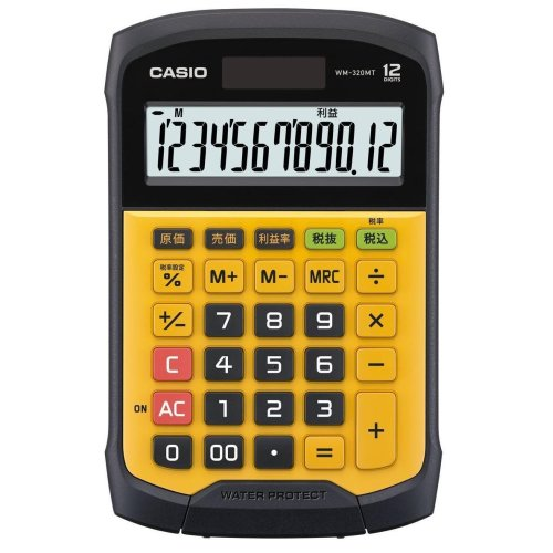 Casio WM-320MT Pocket Display calculator Black,Yellow calculator