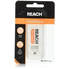 Johnson and Johnson Reach Dentotape 100 Yards Waxed Floss, Unflavored