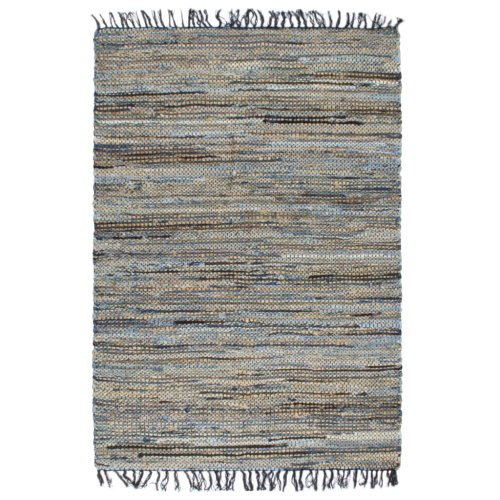 vidaXL Hand-woven Chindi Rug Denim Jute 160x230cm Multicolour Floor Carpet