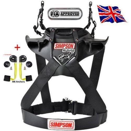 Simpson Hybrid Sport Harness Restraint Duel End Tethers M61 Qr Sfi Fia Adult Hans Sml