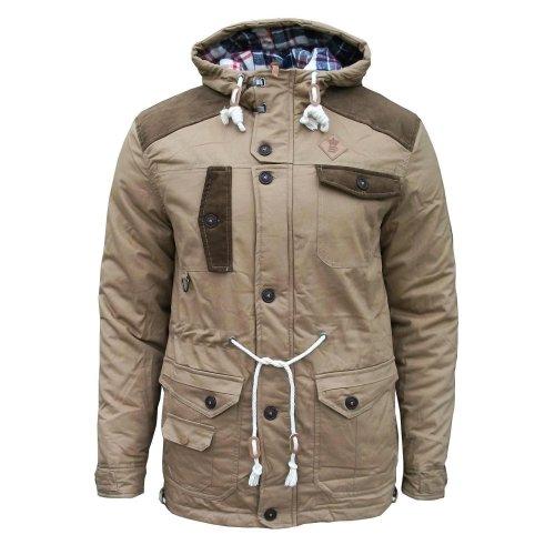2d6dc229ed87 Soul Star Broughton Men s Casual Winter Padded Fashion Coat Jacket tobacco  Medium on OnBuy
