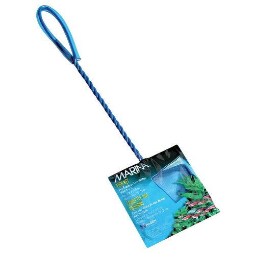 Marina 3-Inch Blue Fine Nylon Fish Net with 8-Inch Handle