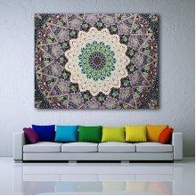 Indian Mandala Green Tapestry Hippie Wall Hanging Bohemian Beach Towel Bedspread Throw Home Decor
