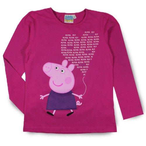 Peppa Pig T Shirt - Long Pink