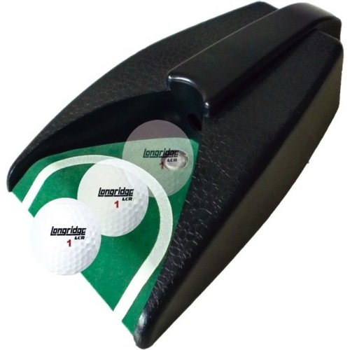 Black Golf Auto Putt Returner - Longridge Putting Practice Ball Machine -  golf auto putt longridge returner black putting practice ball machine