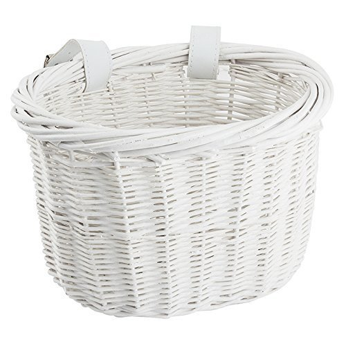 Sunlite Willow Bushel Strap On Basket 9 75 X 6 X 7 5 White