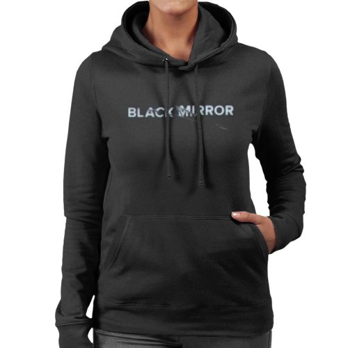 Black Mirror Crack Logo Women's Hooded Sweatshirt