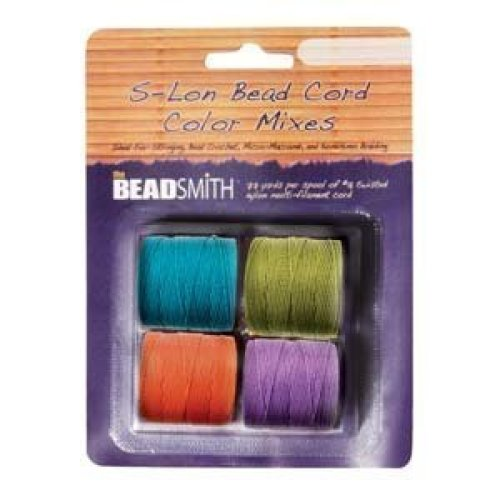 4 S ools Su er lon 18 Cord Ideal for Stringing Beading Crochet and Micro macram Jewelry Com atible with Kumihimo rojects S lon Brights Mix