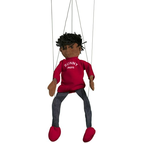 Sunny Toys WB1631 22 In. Ethnic Boy, Marionette People Puppet