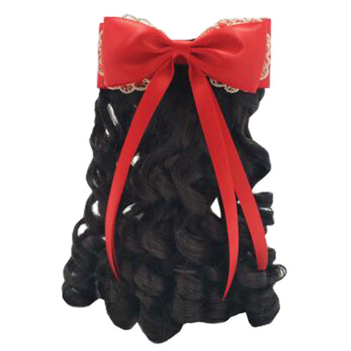 Children Girls Long Curly Wigs Hair Extensions Hair Clip Kids Wig Hairpiece, G