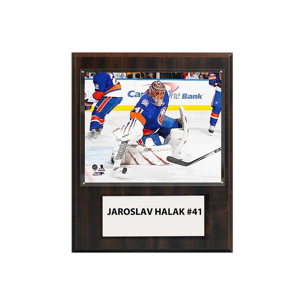 new product 2ce5e 55fda CandICollectables 1215HALAKNYI NHL 12 x 15 in. Jaroslav Halak New York  Islanders Player Plaque