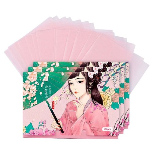 Double-sided Facial Oil Control Blotting Papers Makeup Blotting Papers 300 Sheets (B)