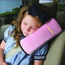 CYBERNOVA Car Vehicle Seat Belt Harness Shoulder Pad Cover Cushion (PINK)