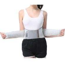 Breathable Elastic Back Waist Support Trimmer Wrap Lumbar Brace - Dark Gray