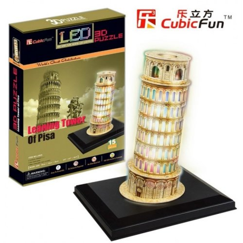 3D Puzzle with LED - Pisa Tower