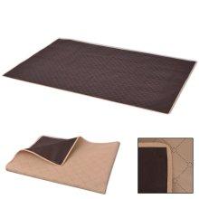 vidaXL Picnic Blanket Beige and Brown 150x200 cm
