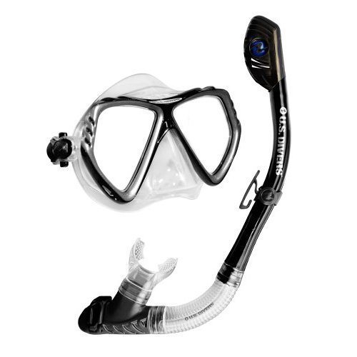 U.S. Divers Adult Regal LX Mask/Tucson Snorkel (Black)