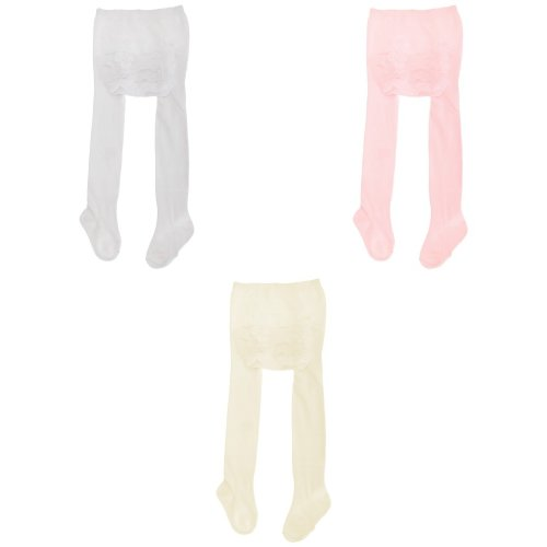 Baby Girls Frilly Cotton Tights With Elastane (One Pair)