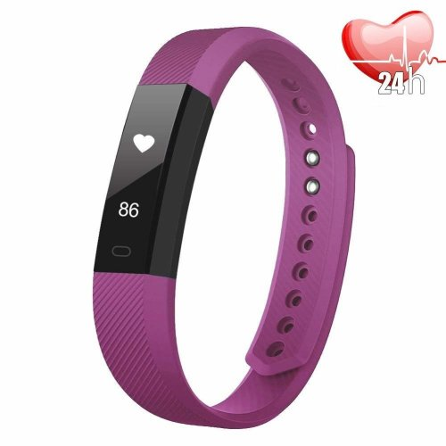 Fitness Tracker with Heart Rate Monitor, Slim Sports Activity Tracker Watch, Waterproof Pedometer Watch with Sleep Monitor, Smart Bracelet with...
