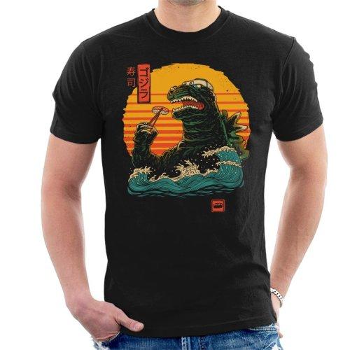 Japanese Kaiju Movie Parody Godzilla King Of Sushi Men's T-Shirt