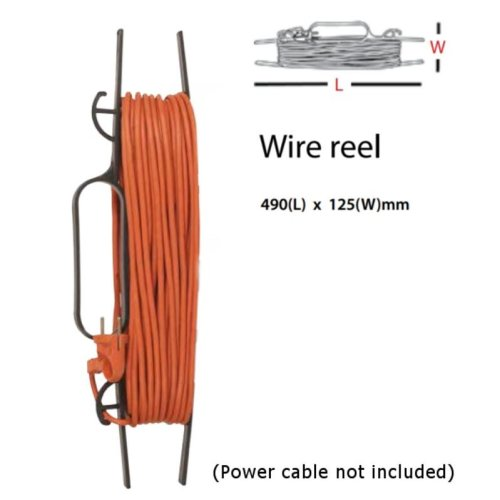 CABLE WIRE TIDY REEL- H FRAME - EXTENSION POWER LEAD CARRIER/HOLDER