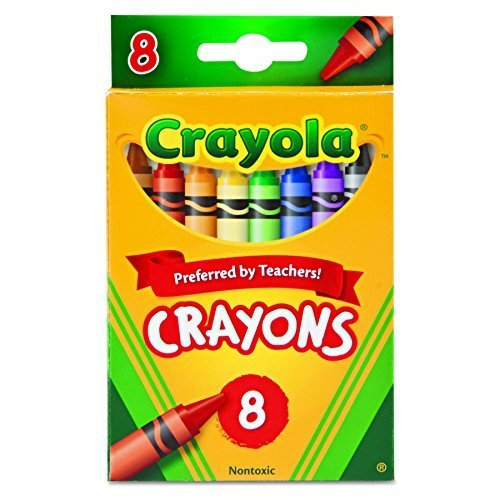 Crayola 523008 Classic Color Crayons Peggable Retail Pack Peggable Retail Pack 8 Colors