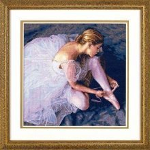 D35181 - Dimensions Counted X Stitch - Gold, Ballerina Beauty