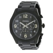 Fossil Foreman Chronograph Black Stainless Steel Mens Watch FS4864
