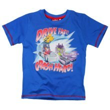 Angry Birds Transformers T Shirt - Blue
