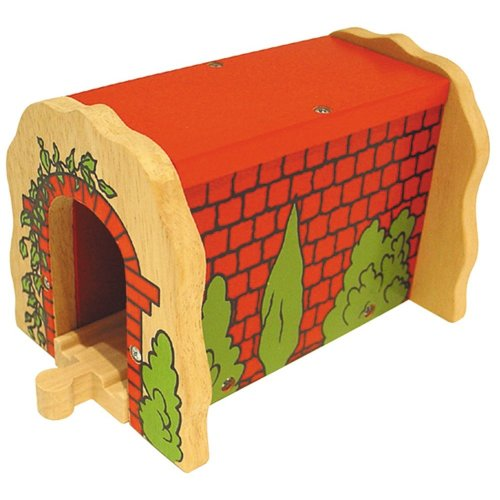 Bigjigs Wooden Railway Red Brick Tunnel
