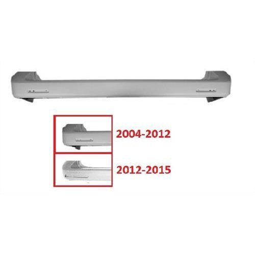 Volkswagen Caravelle MPV 2004-2009 Rear Bumper No Sensor Holes - Smooth Primed