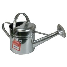 5l Galvanised Watering Can -  galvanised watering can rose 5 litre capacity two handles 5l metal double garden outdoor spray brand new 5ltr